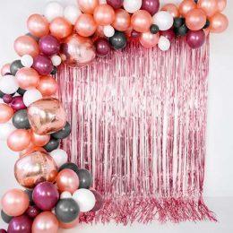 Μεταλλική ροζ-χρυσή Κουρτίνα Διακόσμησης