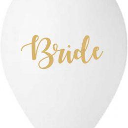 13″ Μπαλόνι τυπωμένο λευκό Bride