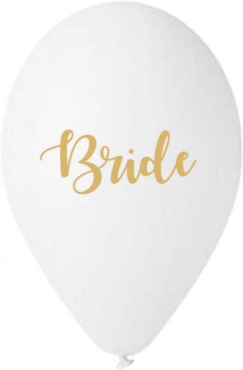 """13"""" Μπαλόνι τυπωμένο λευκό Bride"""