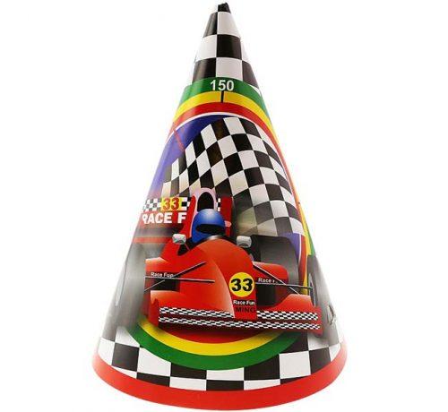 """Καπελάκια χάρτινα """"Race Fun"""" (6 τεμ)"""