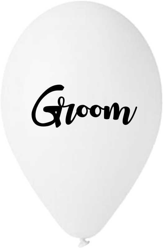 """13"""" Μπαλόνι τυπωμένο λευκό Groom"""