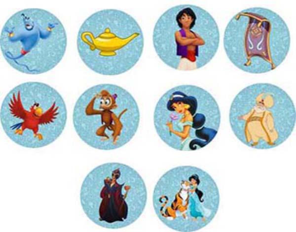 Σετ κονκάρδες Aladdin (6 τεμ)