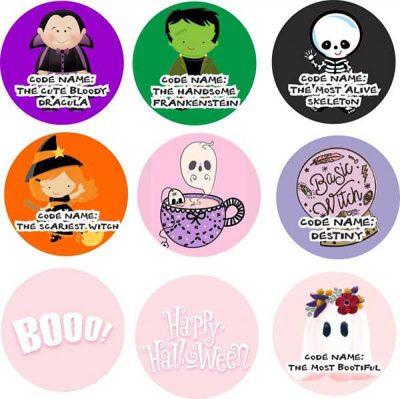 Σετ κονκάρδες Halloween (6 τεμ)
