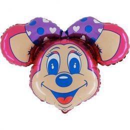 Μπαλόνι Meggy Mouse φάτσα STREET91 εκ