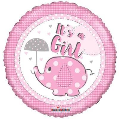 Μπαλόνι γέννησης It's a Girl ελεφαντάκι