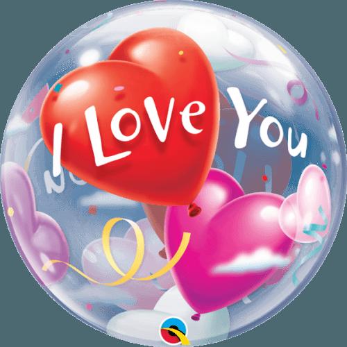 Μπαλόνι αγάπης 'I Love You' bubble 56εκ