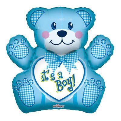 Μπαλόνι γέννησης baby boy αρκουδάκι 70 εκ