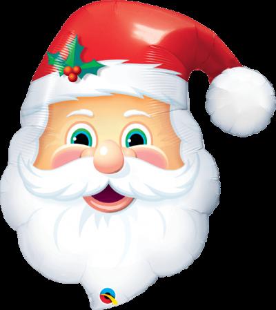 Μπαλόνι χαριτωμένος Άγιος Βασίλης 81εκ