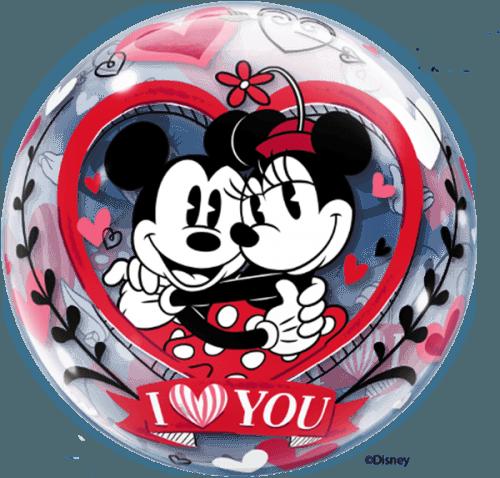 Μπαλόνι αγάπης Mickie & Minnie Bubble 56 εκ.