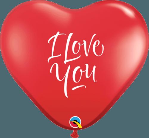 """36"""" Μπαλόνι καρδιά κόκκινη """"I love you"""""""