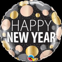 Μπαλόνι Happy New year με πουά 45εκ