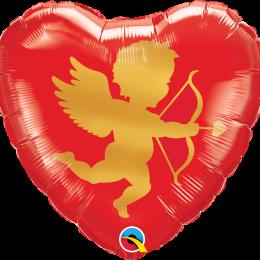 Μπαλόνι αγάπης καρδιά αγγελάκι του έρωτα 46 εκ.