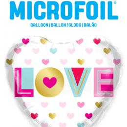 """Μπαλόνι αγάπης καρδιά """"love"""" 46 εκ."""