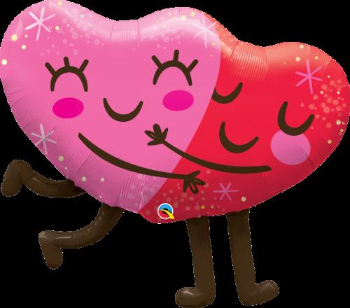 Μπαλόνι αγάπης καρδιές που αγκαλιάζονται 92 εκ.