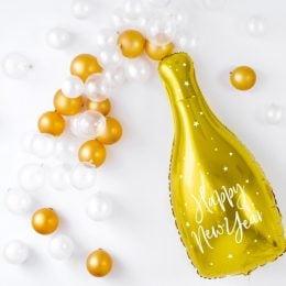 """Μπαλόνι μπουκάλι """"Happy New Year"""" 80 εκ"""