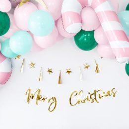 Διακοσμητικό μπάννερ Merry Christmas