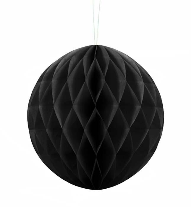 Μαύρη χάρτινη διακοσμητική μπάλα