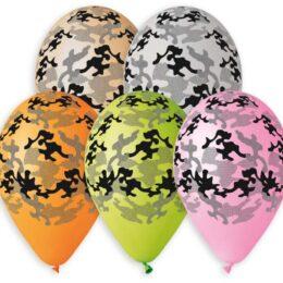 """12"""" Μπαλόνι τυπωμένο Παραλλαγή 5 χρώματα"""