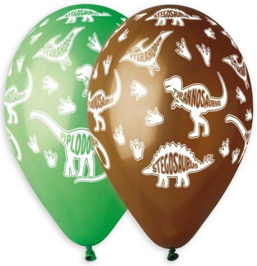 """12"""" Μπαλόνια τυπωμένα Δεινόσαυροι"""