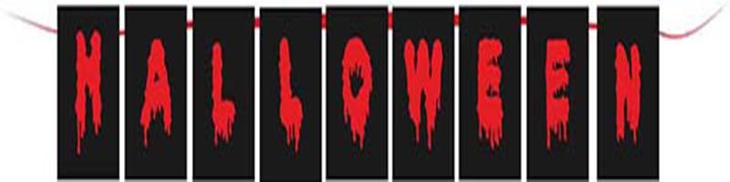 Σημαιάκια Κόκκινο & μαύρο Halloween (9 τεμ)