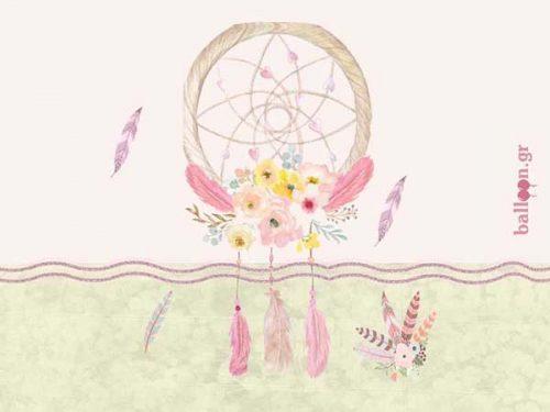 Ευχαριστήριο καρτελάκι Ονειροπαγίδα Κορίτσι (Σχέδιο 2)