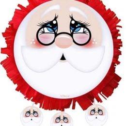 ΧριστουγεννιάτικηΠινιάτα Φάτσα Αη Βασίλης