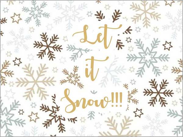 """Ευχαριστήριο καρτάκι """"Let it snow"""""""