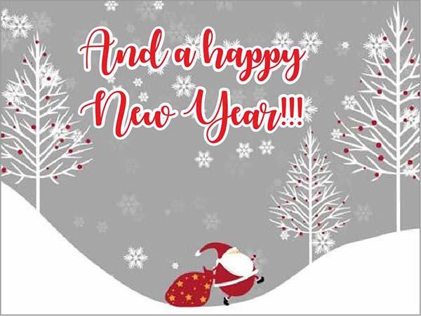 """Ευχαριστήριο καρτάκι """"And a happy New Year"""""""