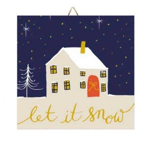 """Χριστουγεννιάτικο Καδράκι """"Let it Snow"""""""