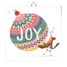 """Χριστουγεννιάτικο Καδράκι Στολίδι """"Joy"""""""