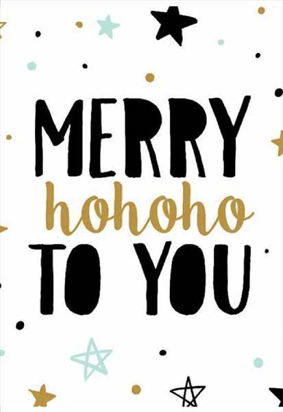 """Χριστουγεννιάτικη κάρτα """"Merry ho ho ho to you"""""""