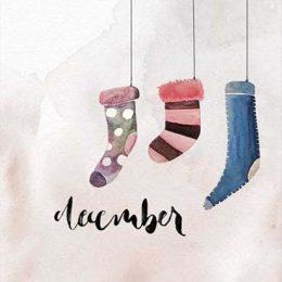 """Χριστουγεννιάτικη κάρτα """"December"""""""