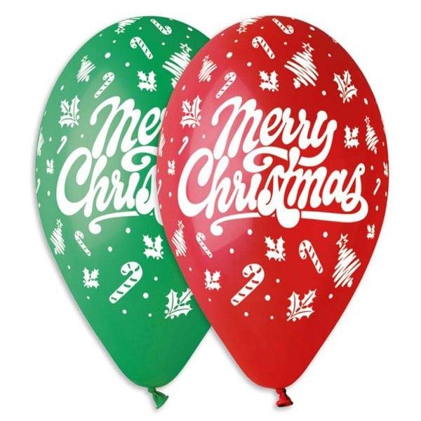 Χριστουγεννιάτικο μπαλόνι τυπωμένο Merry Christmas