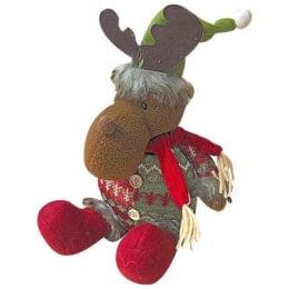 Χριστουγεννιάτικο Λούτρινο Τάρανδος με κασκόλ