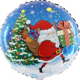 Μπαλόνι Αη Βασίλης με δώρα 45 εκ.