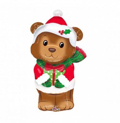 Μπαλόνι Χριστουγεννιάτικο αρκουδάκι 73 εκ.
