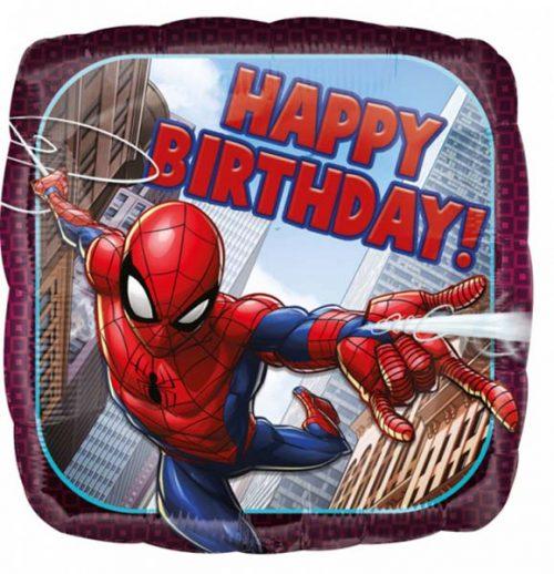"""Μπαλόνι Spiderman """"Happy Birthday"""" 45 εκ"""
