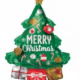 """Μπαλόνι χριστουγεννιάτικο δέντρο """"Merry Christmas"""" 86 εκ."""