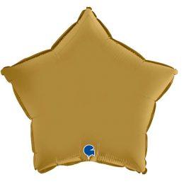 Μπαλόνι αστέρι σατέν χρυσό 18″