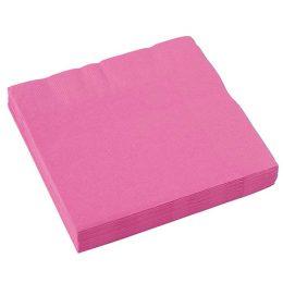 Χαρτοπετσέτες έντονο ροζ(20 τεμ)
