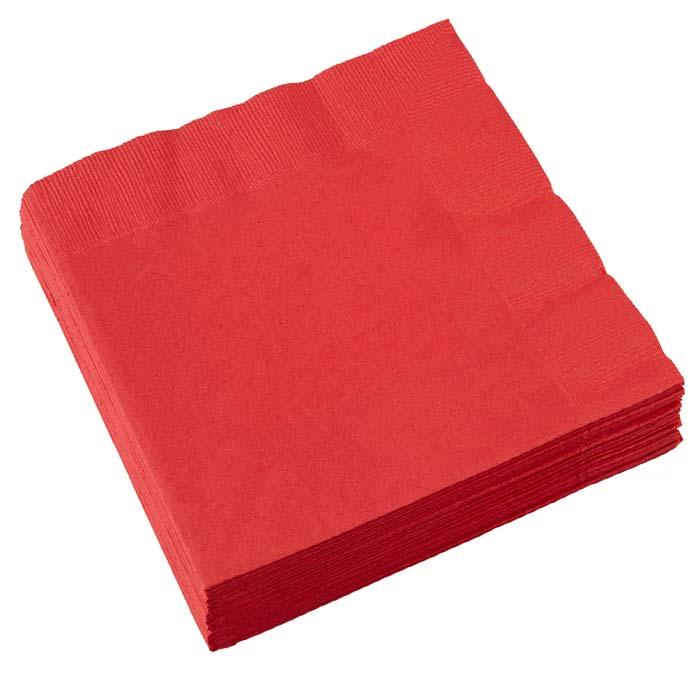 Χαρτοπετσέτες κόκκινες(20 τεμ)