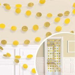 Διακοσμητική Κίτρινη κουρτίνα με γκλίτερ