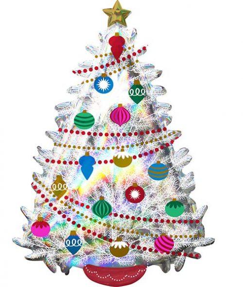 Μπαλόνι ιριδίζον Χριστουγεννιάτικο δέντρο 71 εκ.