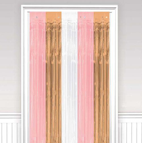 Διακοσμητική πλαστική κουρτίνα rosegold