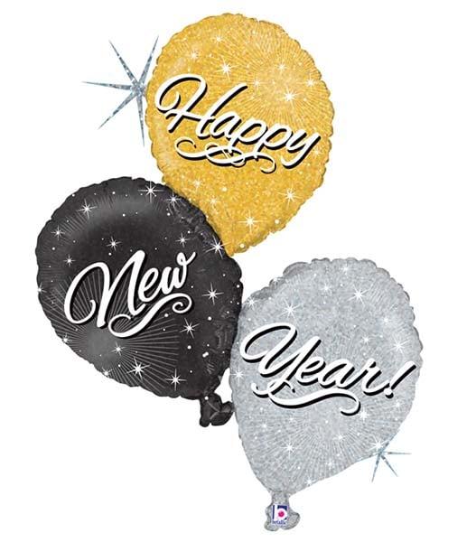 """Μπαλόνι """"New Year"""" τρίπτυχο 102 εκ."""