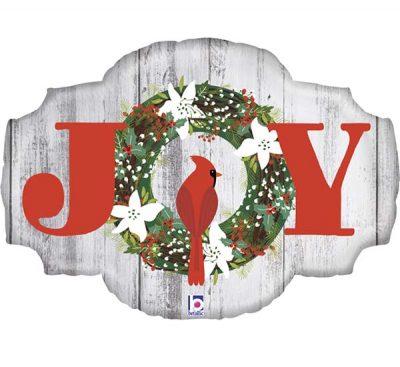 """Μπαλόνι ρουστίκ πινακίδα """"Joy"""" 81 εκ."""
