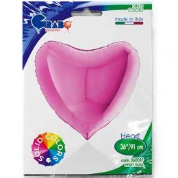 Μπαλόνι Φούξια Καρδιά 37″