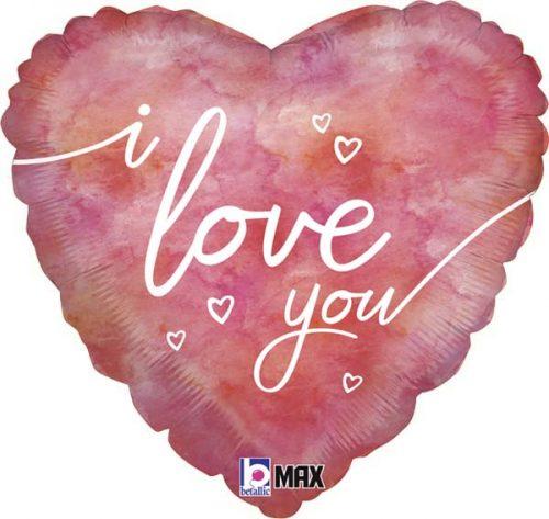 """Μπαλόνι αγάπης νερομπογιά """"I Love You"""" 46 εκ."""