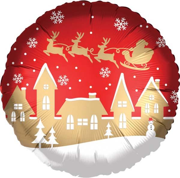 Μπαλόνι χριστουγεννιάτικo χωριό του Αη Βασίλη 45 εκ.