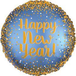 """Μπαλόνι Χρυσό & Σατέν """"HappyNew Year"""" 45 εκ."""